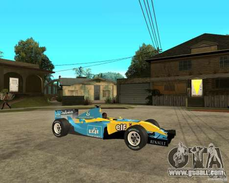 Renault F1 for GTA San Andreas right view