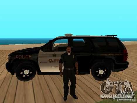 Chevrolet Tahoe Ontario Highway Police for GTA San Andreas inner view