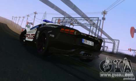 Lamborghini Aventador LP700-4 Police for GTA San Andreas back left view