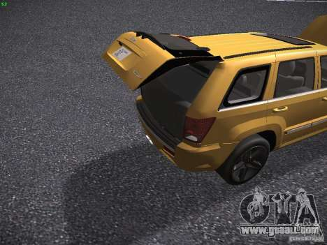 Jeep Grand Cherokee SRT8 for GTA San Andreas side view