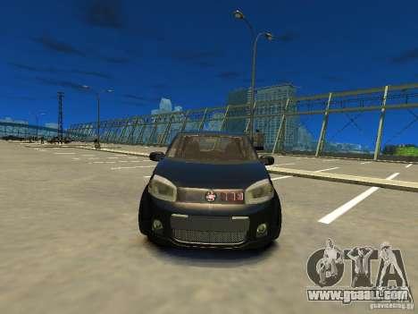 Fiat Novo Uno Sporting for GTA 4 back view