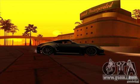 Nissan 370z Drift Edition for GTA San Andreas back view