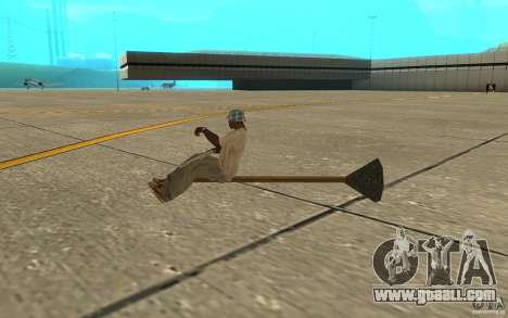 Flying Broom for GTA San Andreas back left view