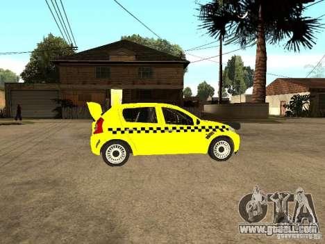 Dacia Sandero Speed Taxi for GTA San Andreas right view