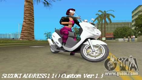 Suzuki Address 110 Custom Ver.1.3 for GTA Vice City