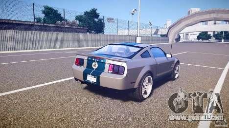Shelby GT500kr for GTA 4 upper view