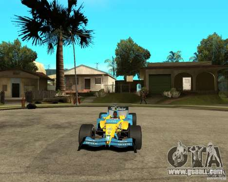 Renault F1 for GTA San Andreas back view