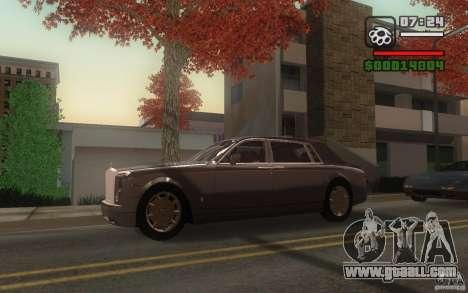 Rolls-Royce Phantom EWB for GTA San Andreas back view