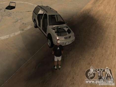 Volkswagen Passat B4 for GTA San Andreas bottom view