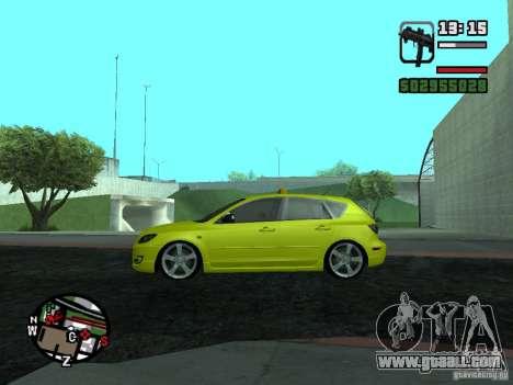 Mazda 3 for GTA San Andreas left view