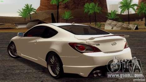 Hyundai Genesis Tunable for GTA San Andreas right view