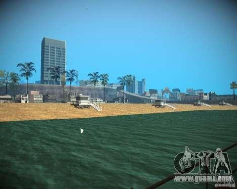 New textures beach of Santa Maria for GTA San Andreas