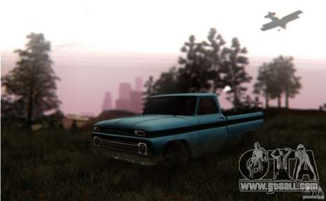 Chevrolet C10 for GTA San Andreas back view