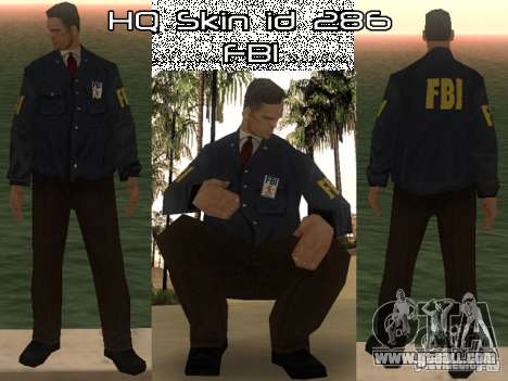 HQ skin FBI for GTA San Andreas