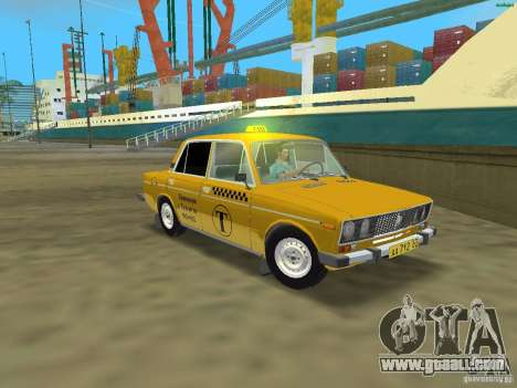 VAZ 2106 Taxi v 2.0 for GTA Vice City left view