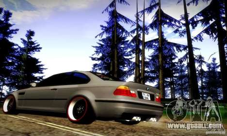 BMW M3 JDM Tuning for GTA San Andreas back view