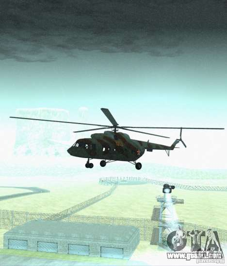 MI-17 Military for GTA San Andreas back view