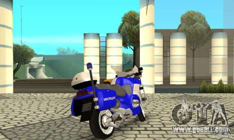 Russian police motorcycle for GTA San Andreas left view