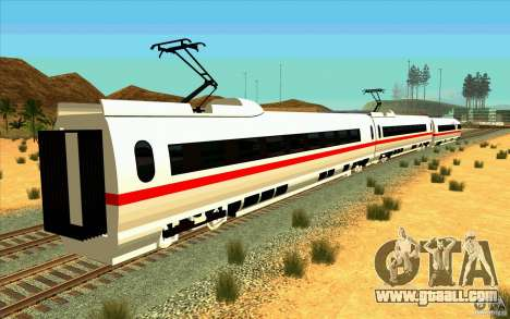 ICE3 Train for GTA San Andreas left view
