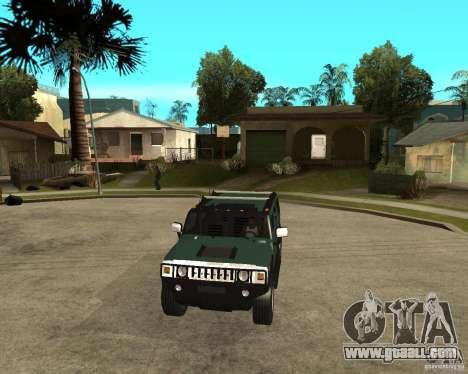 AMG H2 HUMMER SUV for GTA San Andreas back view