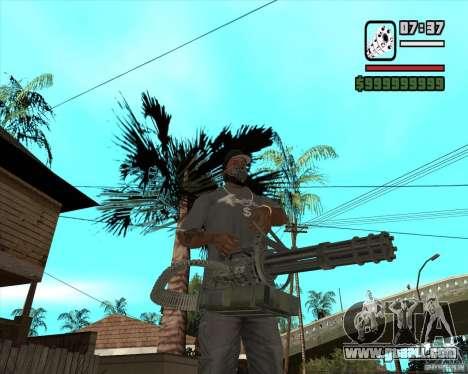 Hand Held M134 Minigun for GTA San Andreas second screenshot