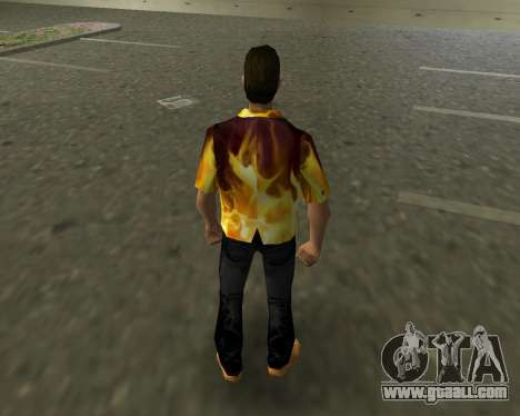 Shirt with flames for GTA Vice City third screenshot