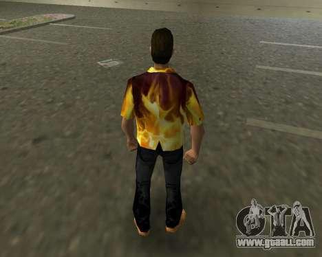 Shirt with flames for GTA Vice City third screenshot