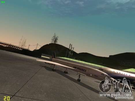 Aerospatiale-BAC Concorde Air France for GTA San Andreas back left view