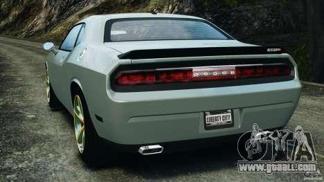 Dodge Challenger SRT8 2009 [EPM] for GTA 4 back left view