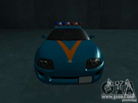 Toyota Supra California State Patrol for GTA San Andreas back view