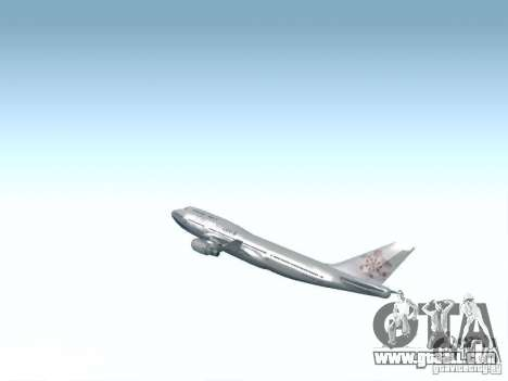 Boeing 747-400 China Airlines for GTA San Andreas side view