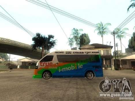 Toyota Commuter VIP Van for GTA San Andreas left view