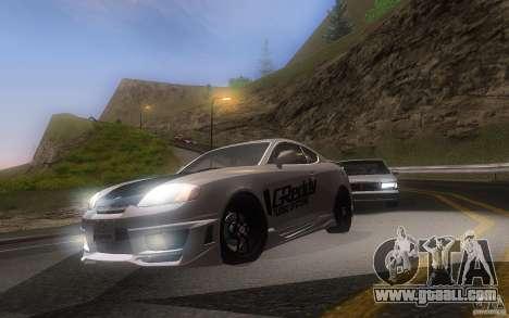 Hyundai Tiburon V6 Coupe tuning 2003 for GTA San Andreas left view