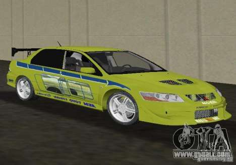 Mitsubishi Lancer Evolution VII for GTA Vice City right view