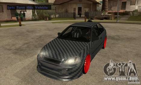 Honda Civic Carbon Latvian Skin for GTA San Andreas