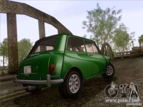 Austin Cooper S 1965 for GTA San Andreas back view
