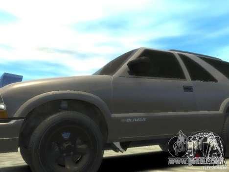Chevrolet Blazer LS 2dr 4x4 for GTA 4 back left view