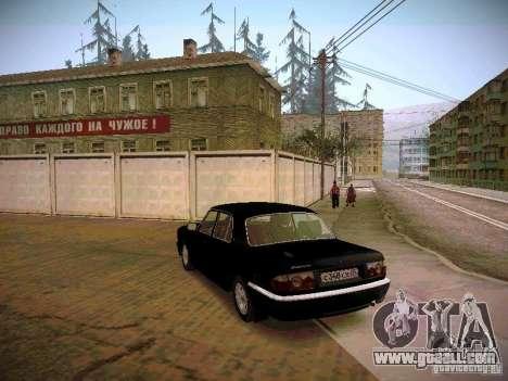 GAZ Volga 31105 S60 for GTA San Andreas back left view