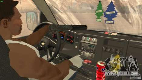 Chevrolet Savana 3500 Cargo Van for GTA San Andreas inner view
