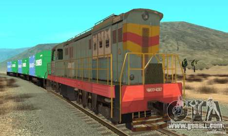 Locomotive ChME3-4287 for GTA San Andreas left view