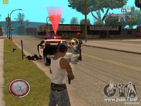 Addition to the GTA IV HUD for GTA San Andreas sixth screenshot