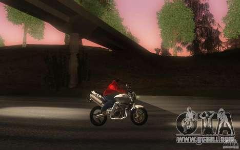 Honda CBF 600 Hornet for GTA San Andreas inner view