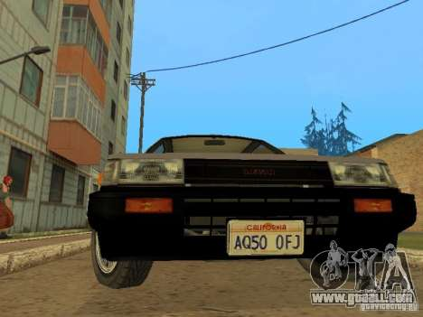 Toyota Corolla AE85 Levin GT-Apex for GTA San Andreas inner view