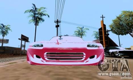 Honda S2000 The Fast and the Furious 2 for GTA San Andreas back left view