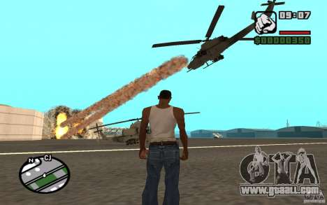Air support when attacking. for GTA San Andreas second screenshot