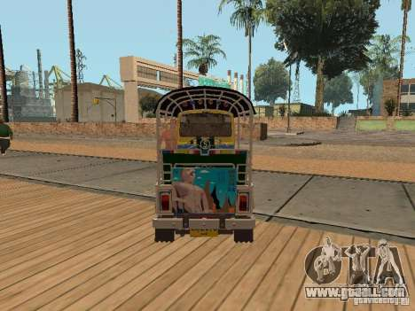 Tuk Tuk Thailand for GTA San Andreas back left view