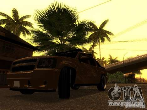 Chevrolet Avalanche Tuning for GTA San Andreas back view