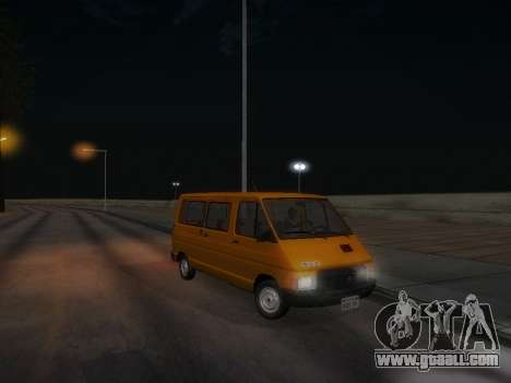 Renault Trafic T1000D Minibus for GTA San Andreas bottom view