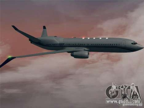 Boeing 737 Iron Man Bussines Jet for GTA San Andreas back view