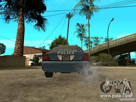 2003 Ford Crown Victoria Gotham City Police Unit for GTA San Andreas back left view
